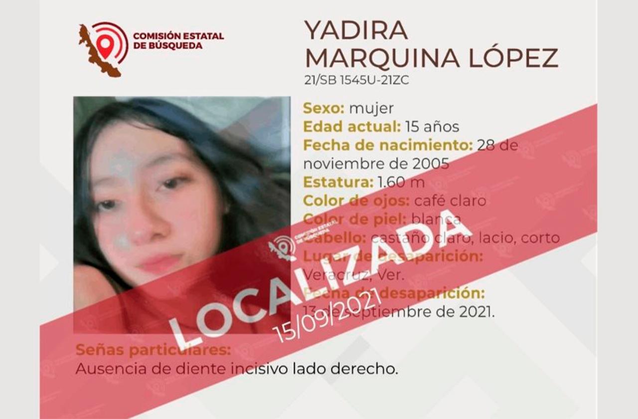 Localizan con vida a menor desaparecida en el puerto de Veracruz