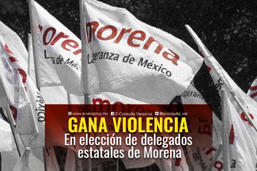 Violencia y disgustos dejan elección de delegados de Morena