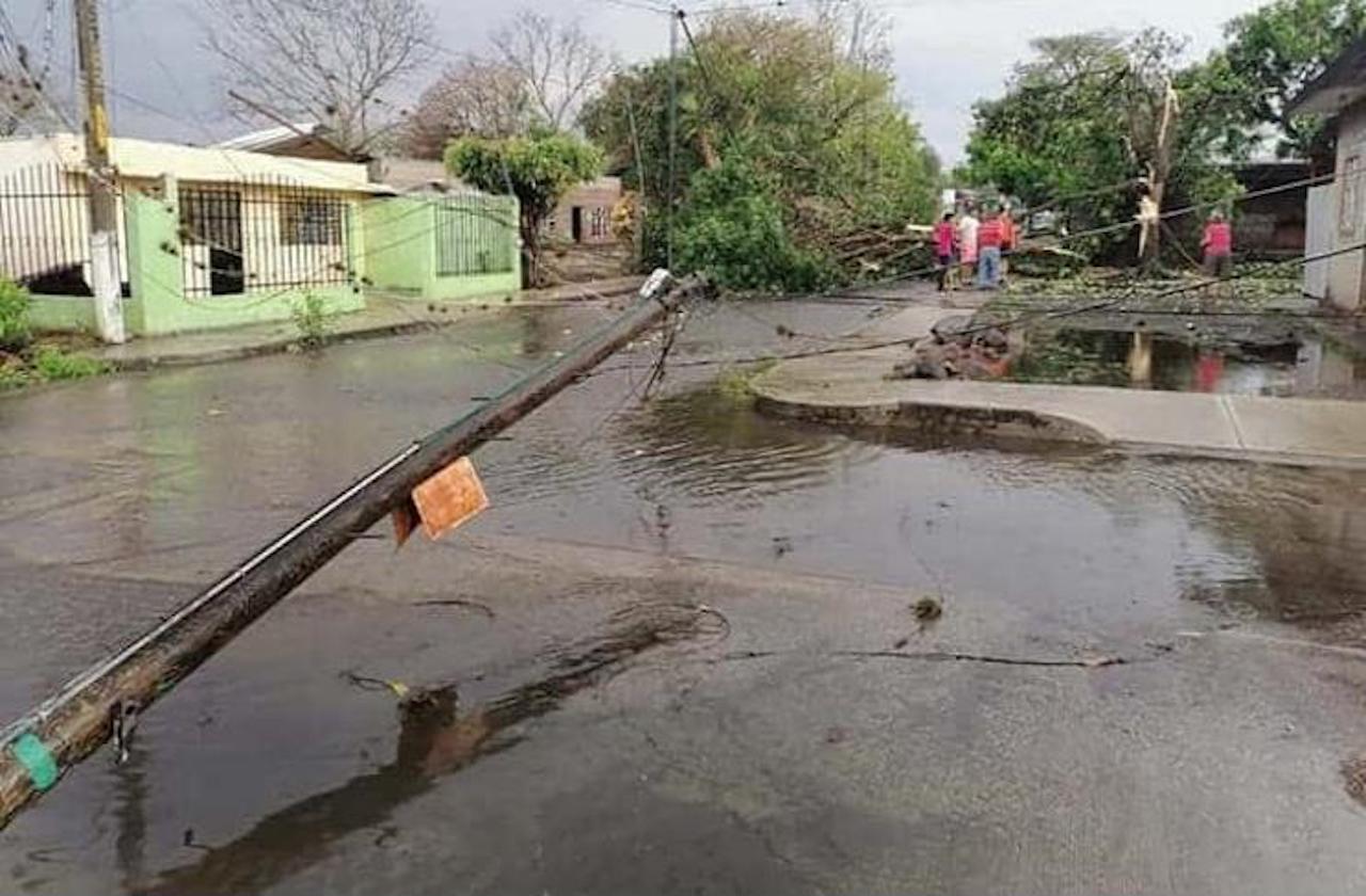 Tormenta provocó daños en Paso del Macho
