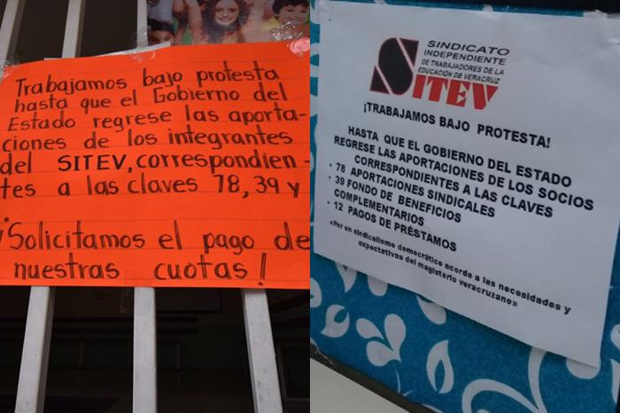 Maestros del Sitev reclaman adeudos a gobierno de Yunes