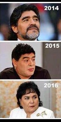 Cibernautas se divierten con nueva imagen de Maradona