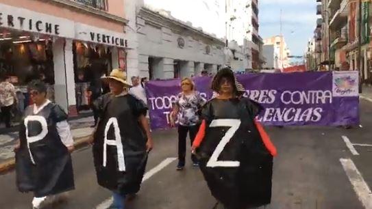 #VIDEO|Marchan veracruzanos por alto a la violencia contra las mujeres