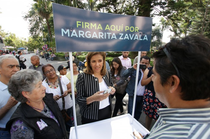 ¿Cuántas firmas le faltan a Margarita Zavala para la candidatura?