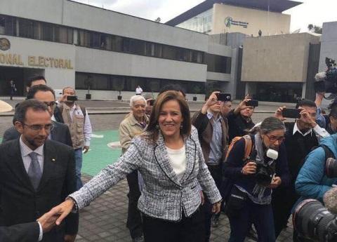 Margarita Zavala se registra como independiente ante INE
