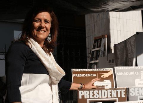 Margarita Zavala y Felipe Calderón votan en la CDMX