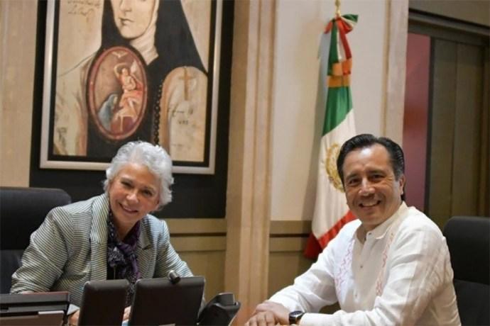 Olga Sánchez Cordero estará en el Primer Informe de Cuitláhuac García
