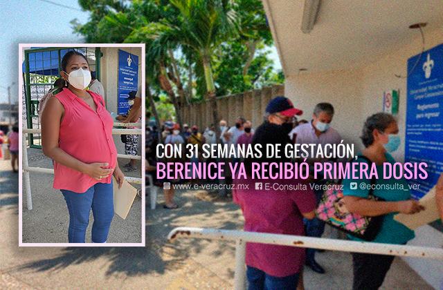 Me vacuné contra el covid por mí y por mi bebé: embarazada en Coatza