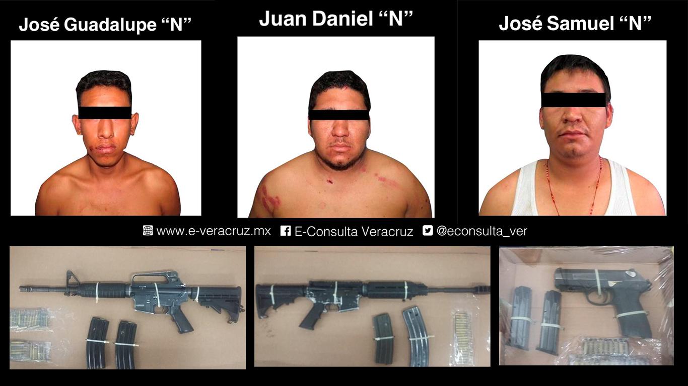 Detienen a 3 presuntos delincuentes en Omealca