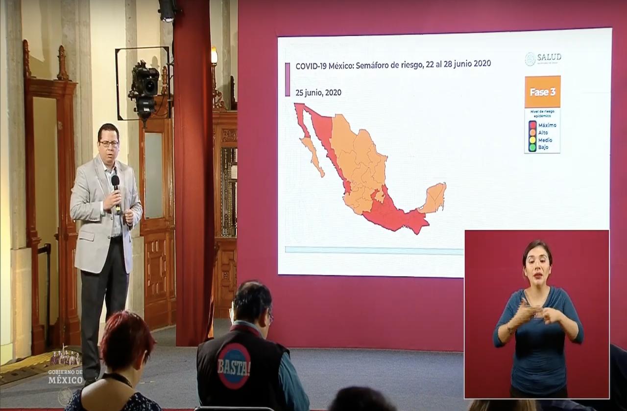 México rebasa los 25 mil muertos y 200 mil contagios de covid
