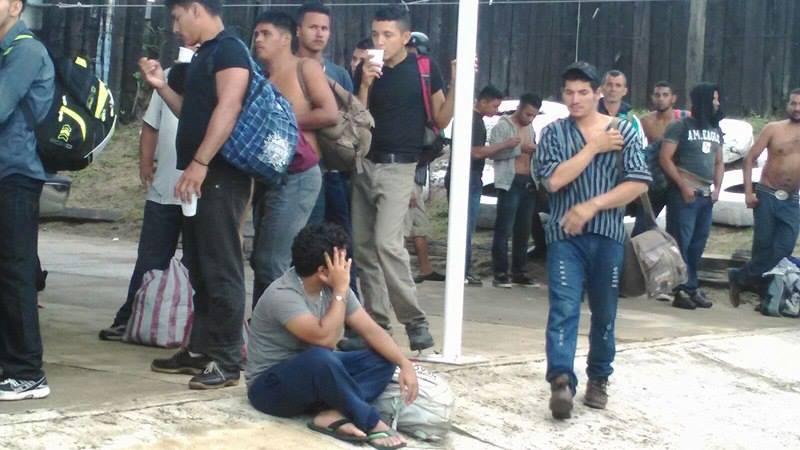 Rescatan a 140 migrantes en tramo carretero al sur de Veracruz