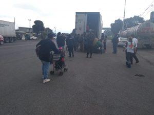 Caravana migrante sin problemas en su paso por Veracruz