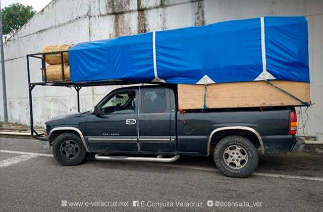 Viajaban hacinados entre muebles; INM rescata 12 migrantes en el sur