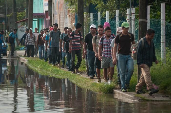 Detienen a 23 migrantes centroamericanos en Actopan