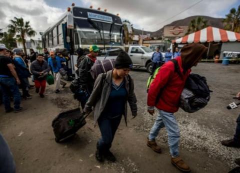 Llega nueva caravana de migrantes a México