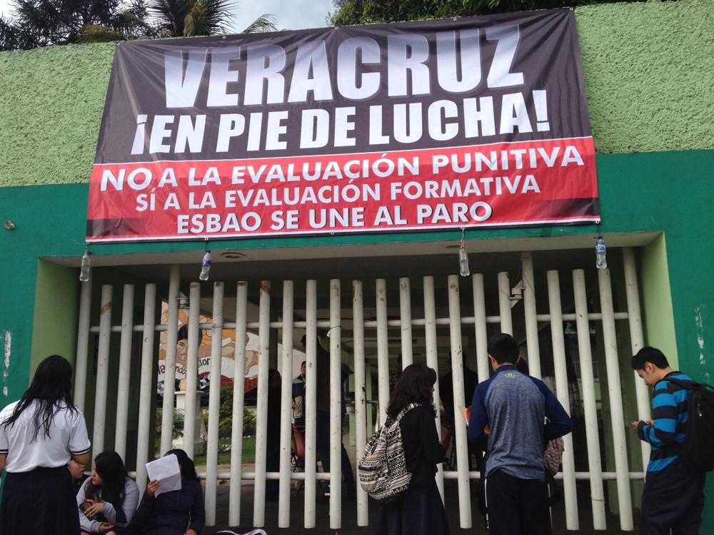 MMPV realiza paro por 24 horas en escuelas de Veracruz