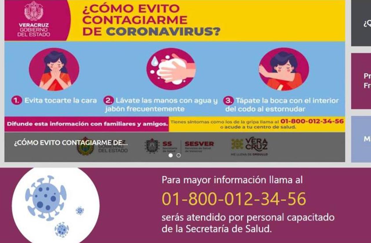 En esta plataforma el Gobierno de Veracruz monitorea casos de Covid-19