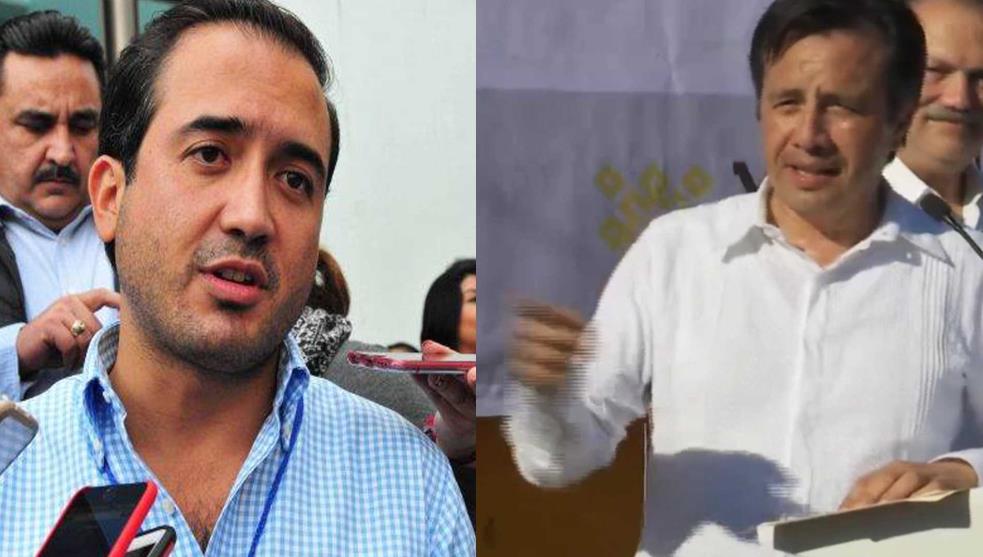 Cuitláhuac y Fernando disputan obra de pavimentación