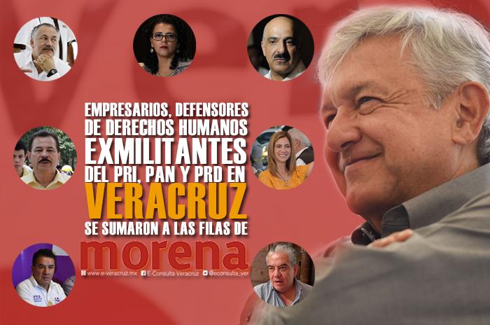 Empresarios, políticos y activistas que se anclaron a Morena
