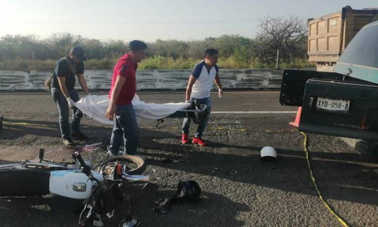 Motociclista pierde la vida en la carretera Cardel-Xalapa