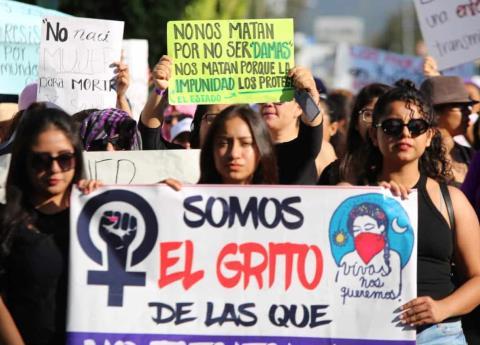 Marcha contra feminicidios en Morelos