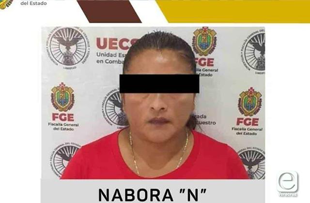Detienen a Nabora N, presunta secuestradora de Coatza