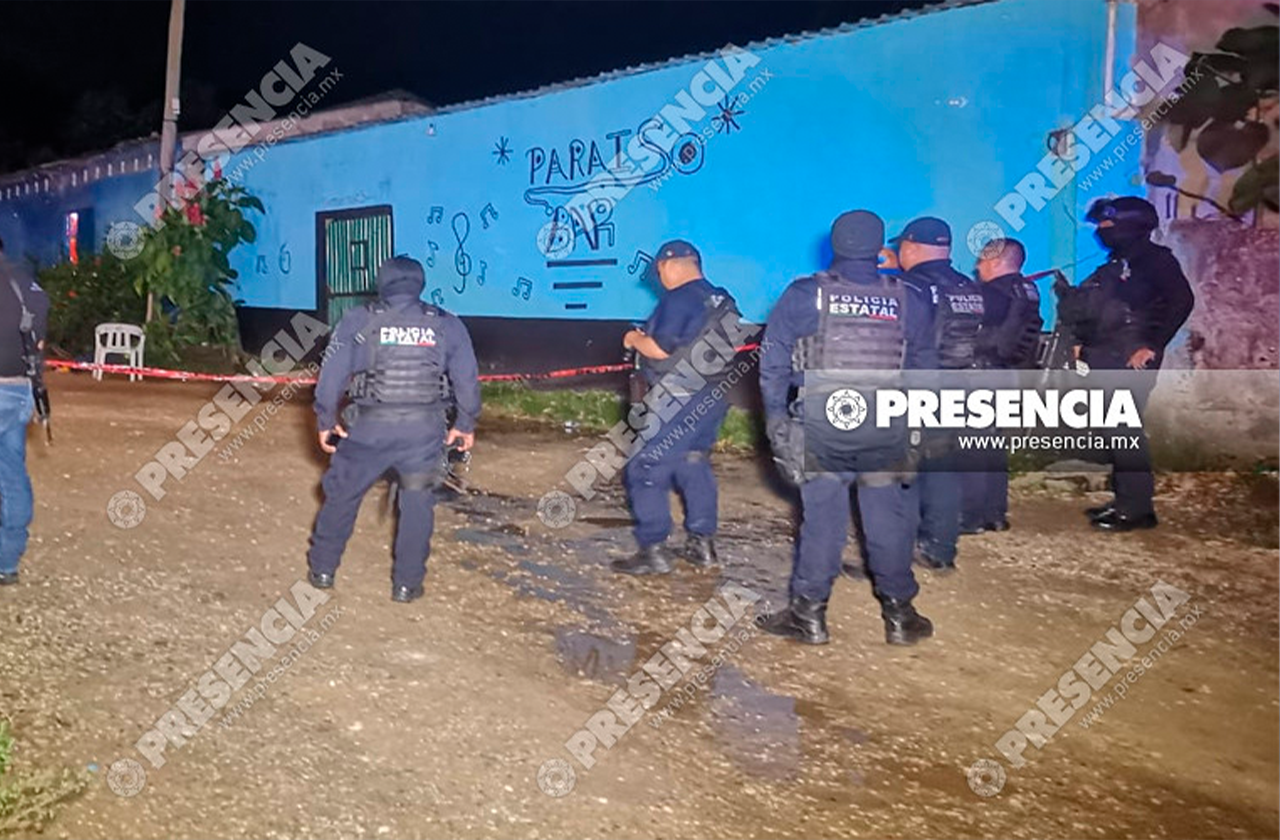 En atentado a bar ejecutan a 3 y hieren a 2; en Las Choapas