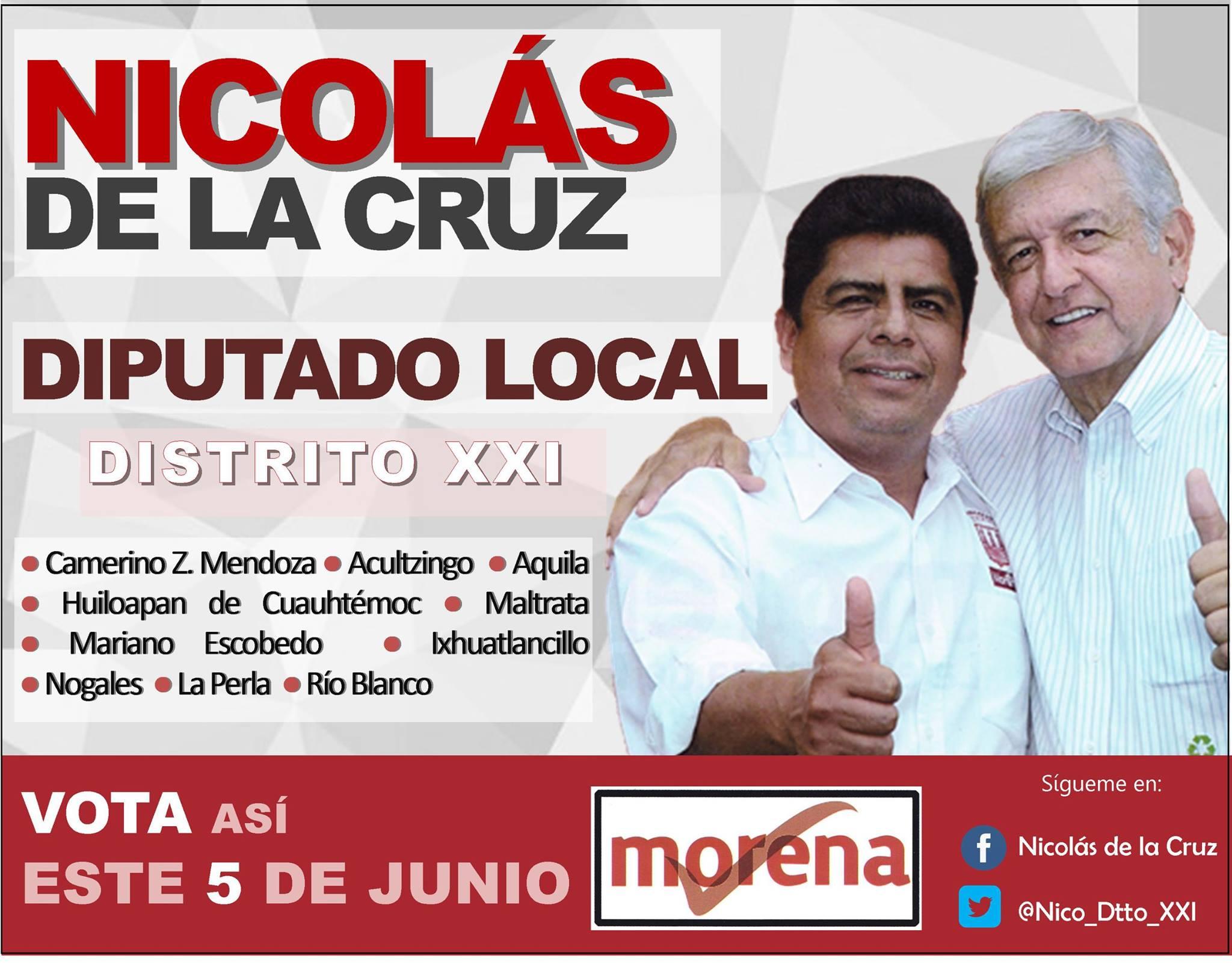 Seré un legislador cercano a la gente: Nicolás de la Cruz