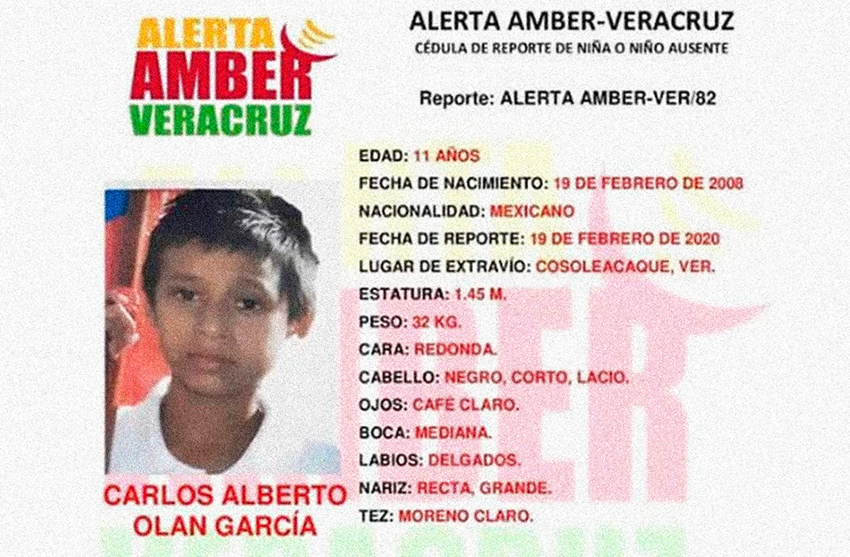 Tras 4 días desaparecido, activan Alerta Amber