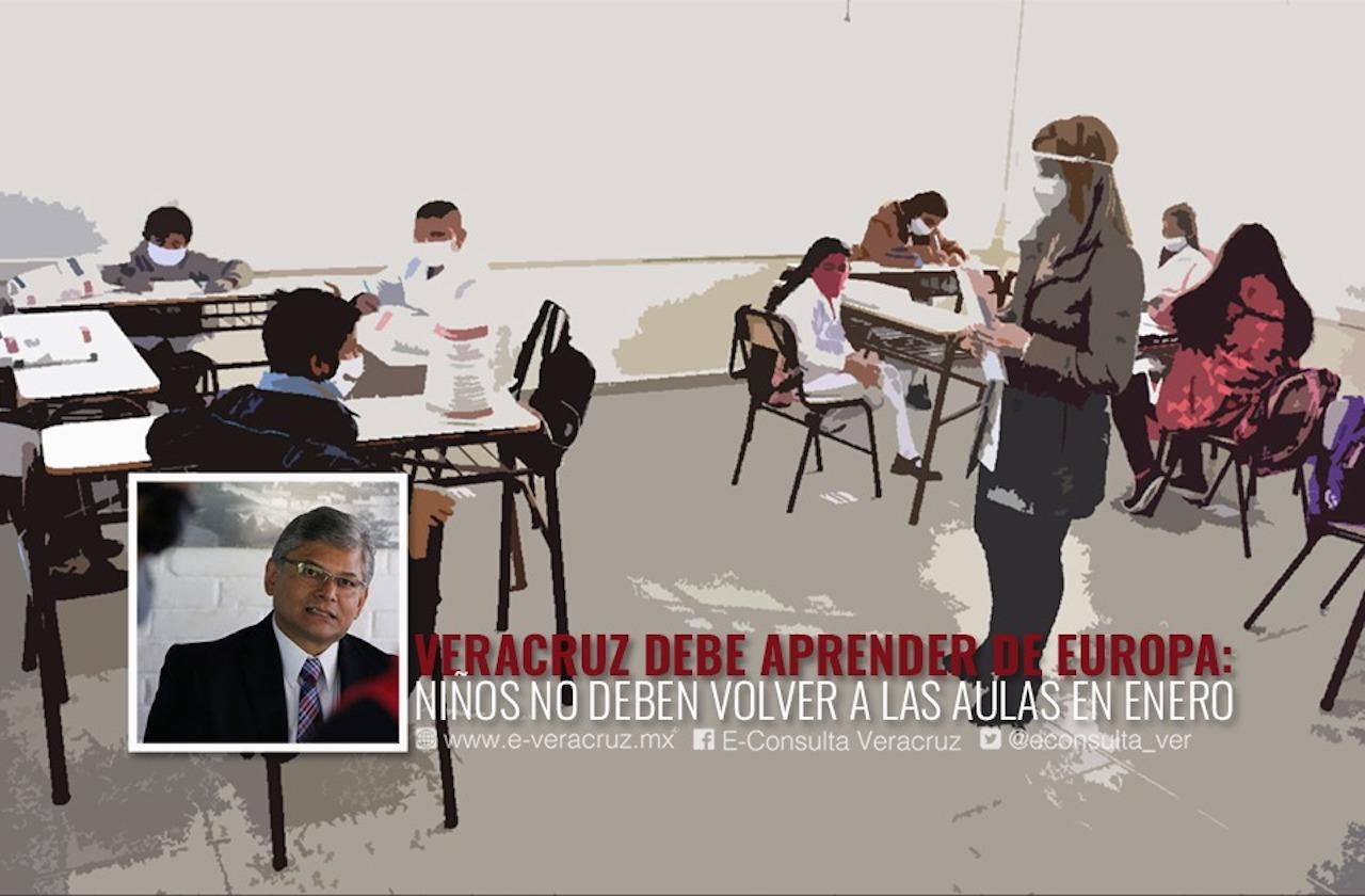 Niños de Veracruz no deben volver a las aulas en enero: especialista