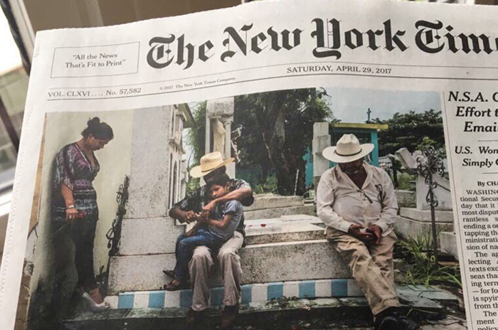 NYT dedica portada a homicidios de periodistas en Veracruz