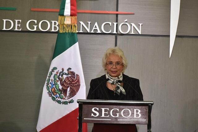 Olga Sánchez Cordero ya es Secretaria de Gobernación