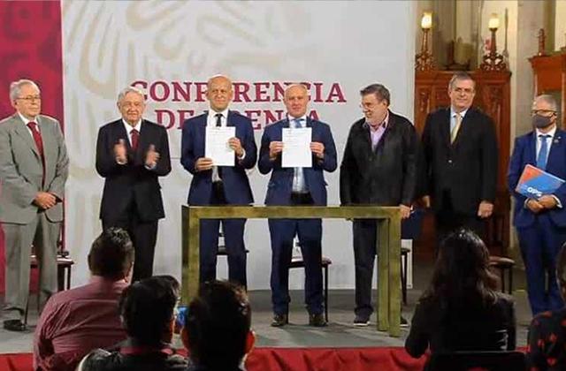 4T firman convenio con la ONU para compra de medicinas en el extranjero