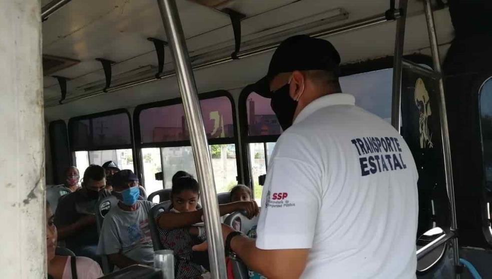 Supervisan que transporte cumpla medidas sanitarias