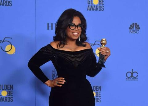 Oprah conmueve con sus palabras en la entrega de los Globos de Oro 2018