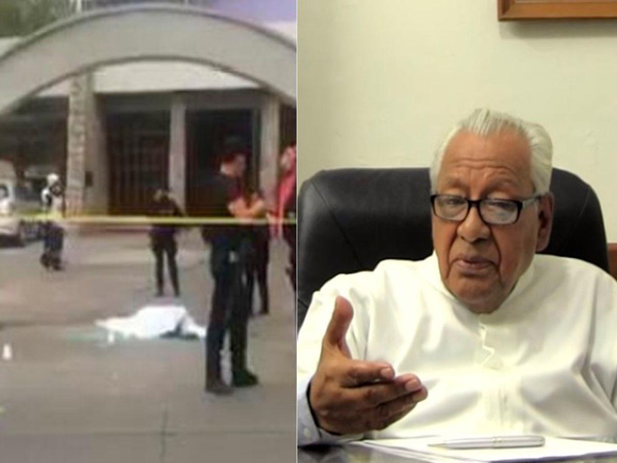 Tras atentado, padre rezó por los dos asesinados afuera de su iglesia