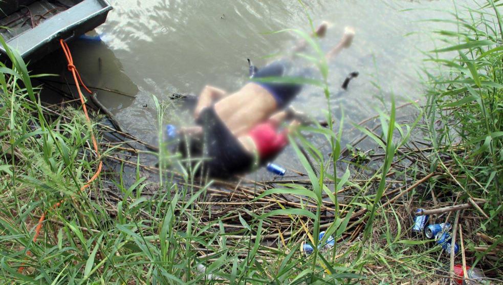 Padre e hija migrantes murieron al intentar cruzar el Río Bravo
