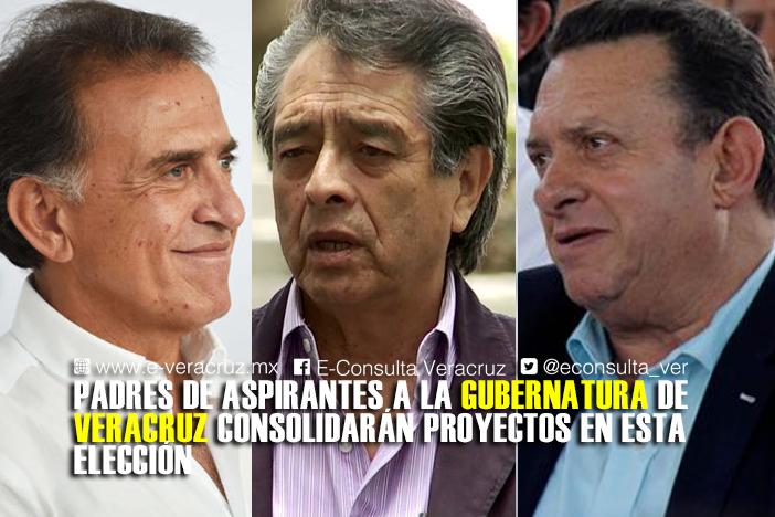 Candidatos a gobernador en Veracruz, bajo la sombra de sus padres políticos