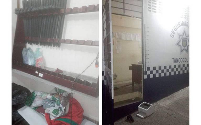 Encapuchados hurtan armas de comandancia en Tantoco
