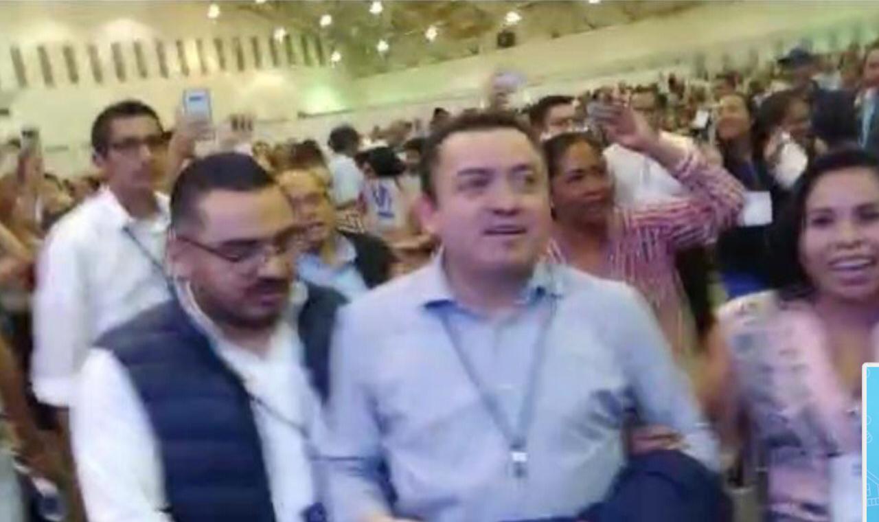 Asamblea estatal del PAN Veracruz termina en zafarrancho