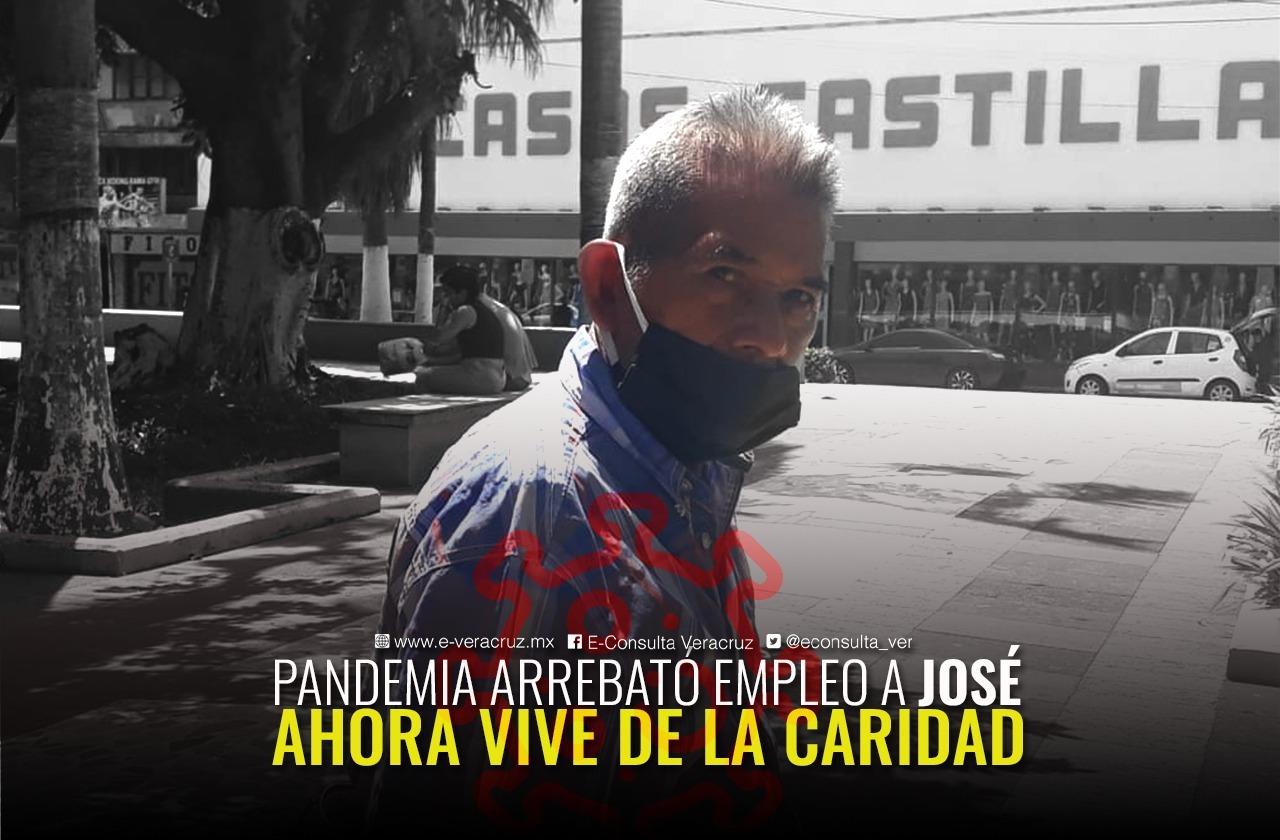 Pandemia arrebató empleo a José; vive de la caridad
