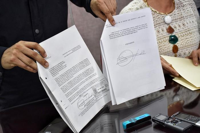Nadie ratificó documento de Duarte para volver a la gubernatura