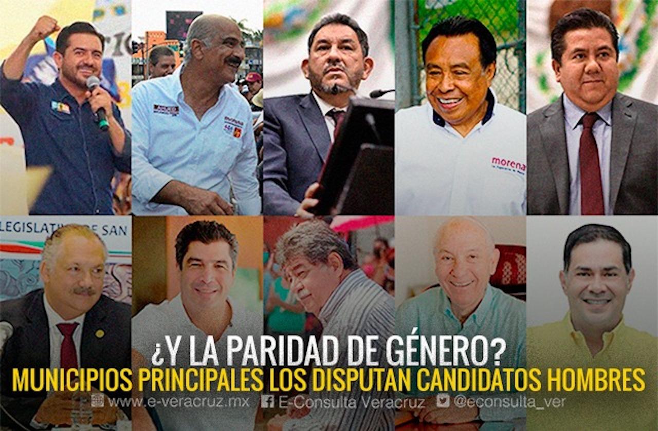¿Paridad? Partidos relegan a mujeres en municipios claves de Veracruz