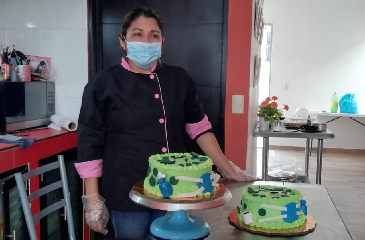 Pastel de coronavirus, la opción en tiempos de contingencia
