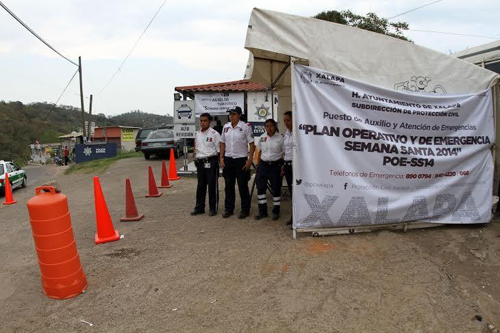 Protección Civil de Xalapa atiende a turistas
