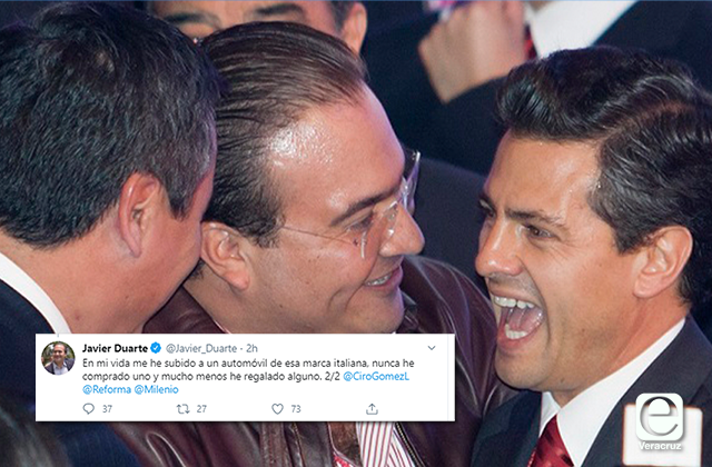 Duarte revira a Lozoya, niega haber regalado ferrari a Peña