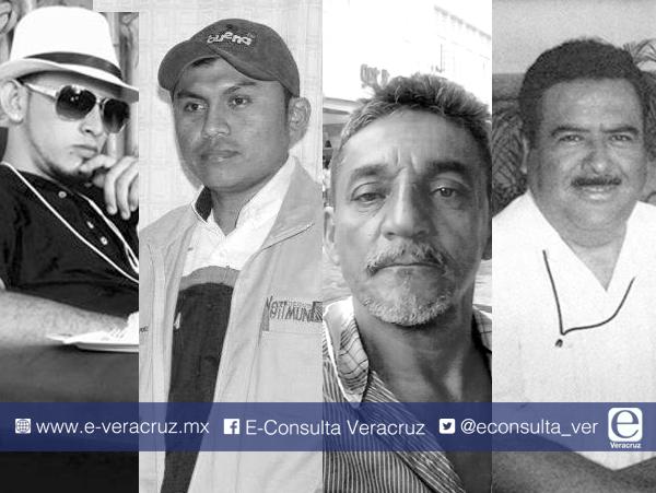 Los cuatro periodistas asesinados en Veracruz durante 2017