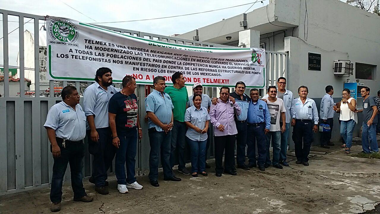 Paran en Puebla 1700 trabajadores de Telmex contra decisión del IFETEL