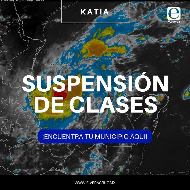 Estos son los municipios donde NO habrá clases por #HuracánKatia