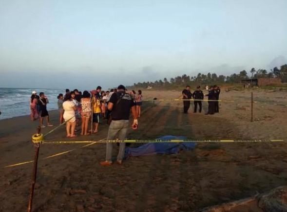 Una persona muerta por ahogamiento en Agua Dulce, Veracruz