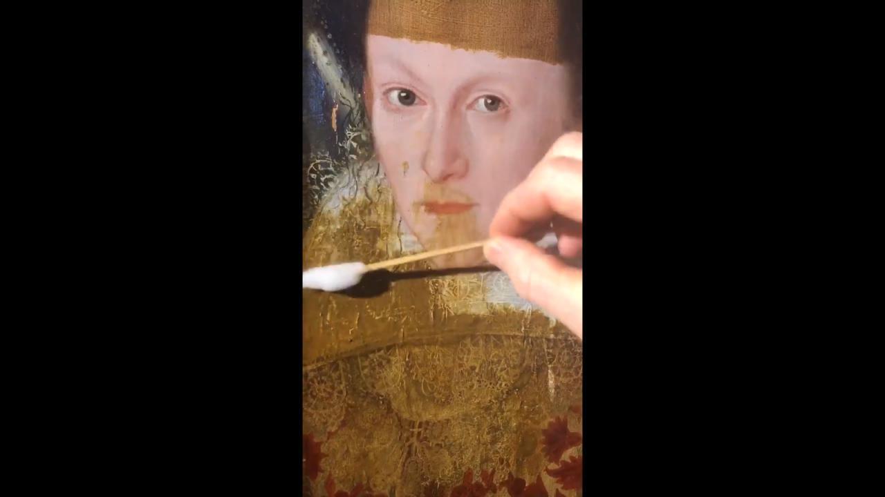 VIDEO: Así se ve una pintura de 200 años cuando se limpia